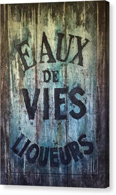 Eaux De Vies Canvas Print