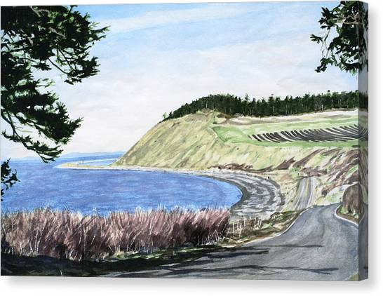 Ebey's Landing Canvas Print by Perry Woodfin