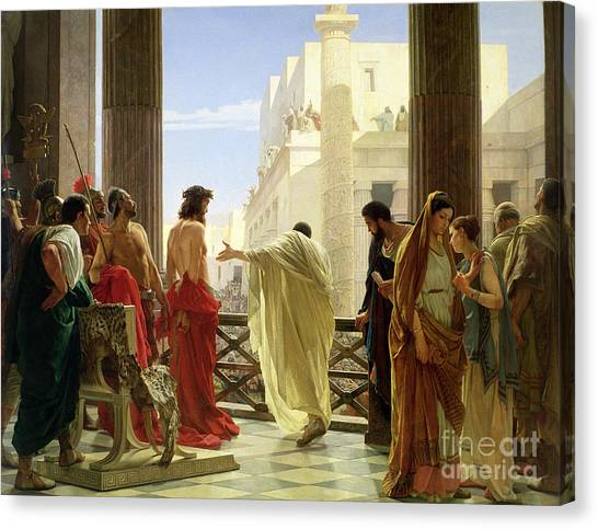 Crowd Canvas Print - Ecce Homo by Antonio Ciseri