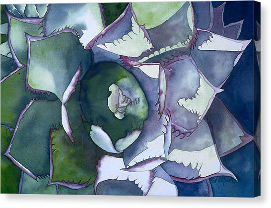 Echeveria Canvas Print by Eunice Olson