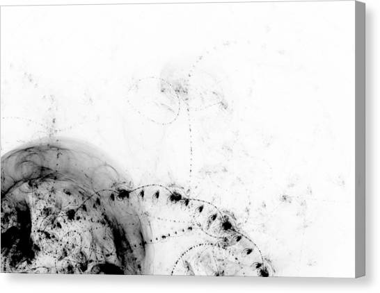 Black And White Canvas Print - Echo 1 by Scott Norris