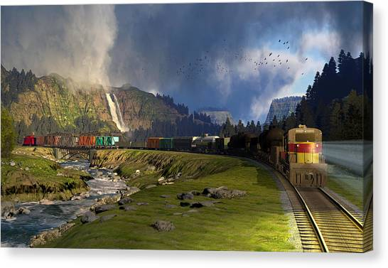 Echoes From The Caboose Canvas Print