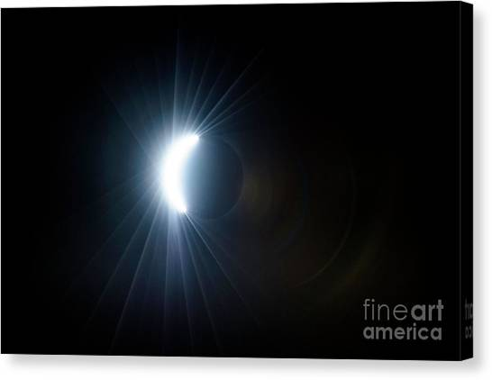 Eclipse Before Totality Canvas Print