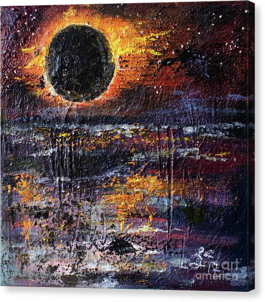 Eclipse In The Garden Of Good And Evil Canvas Print