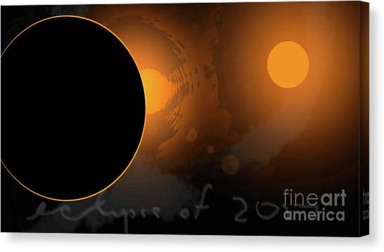 Eclipse Of 2017 W Canvas Print