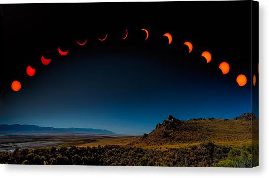 Eclipse Pano Canvas Print