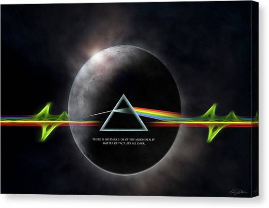 Pink Floyd Canvas Print - Eclipse by Peter Chilelli