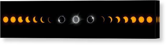 Eclipse Progression Canvas Print