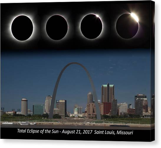 Eclipse - St Louis Skyline Canvas Print