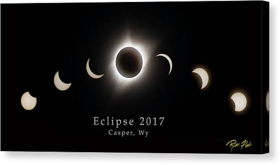 Canvas Print featuring the photograph Solar Eclipse Collage 1 by Rikk Flohr
