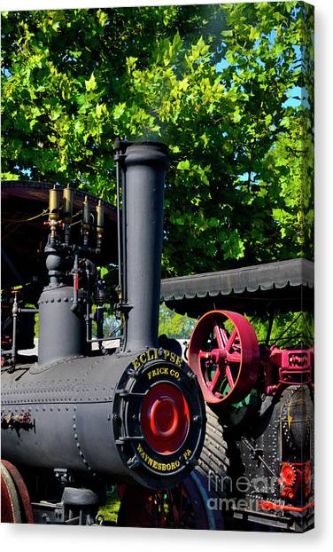 Steam Tractor Canvas Print - Eclipse Tractor - Front by Paul W Faust - Impressions of Light