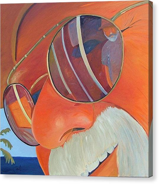 Face Canvas Print - Ed And Gary At The Sea by Gary Coleman
