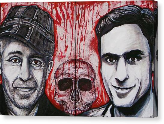 Ted Bundy Canvas Print - Ed And Ted by Sam Hane