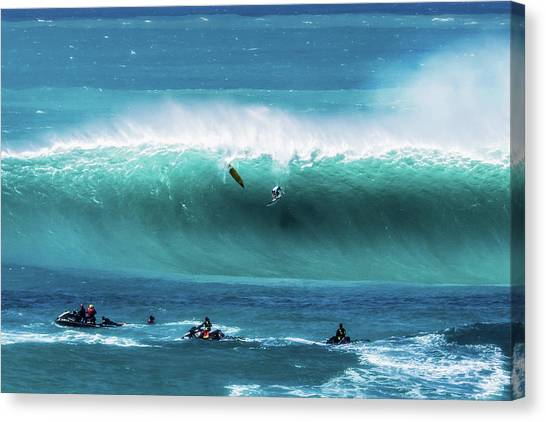 Jet Skis Canvas Print - Eddie Aikau by James Roemmling