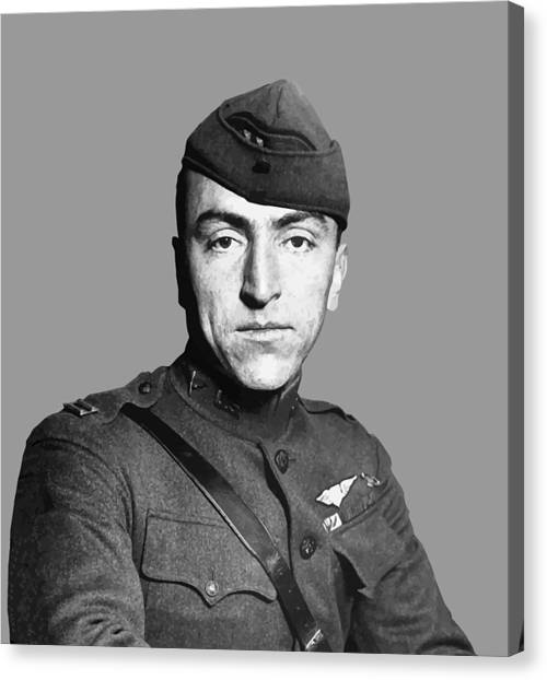 Pilots Canvas Print - Eddie Rickenbacker by War Is Hell Store