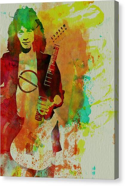 Van Halen Canvas Print - Eddie Van Halen by Naxart Studio