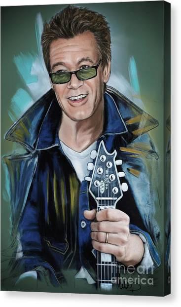 Van Halen Canvas Print - Eddie Van Halen by Melanie D