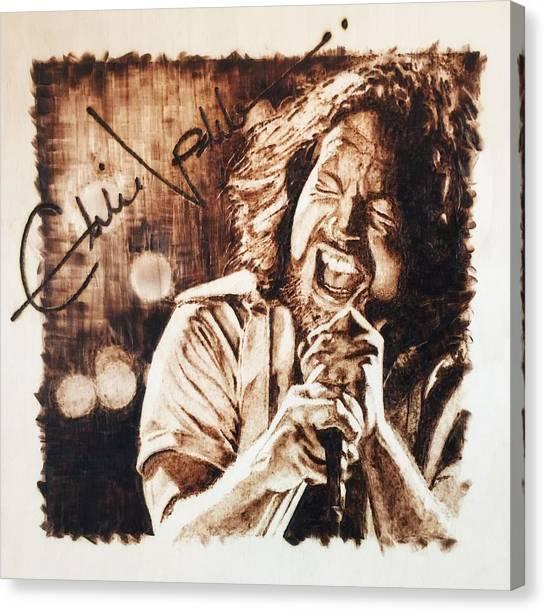 Pearl Jam Canvas Print - Eddie Vedder by Lance Gebhardt