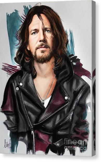 Pearl Jam Canvas Print - Eddie Vedder by Melanie D