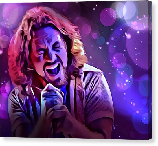 Pearl Jam Canvas Print - Eddie Vedder Portrait by Scott Wallace Digital Designs