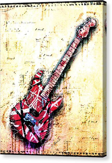 Van Halen Canvas Print - Eddie's Guitar Variation 07 by Gary Bodnar