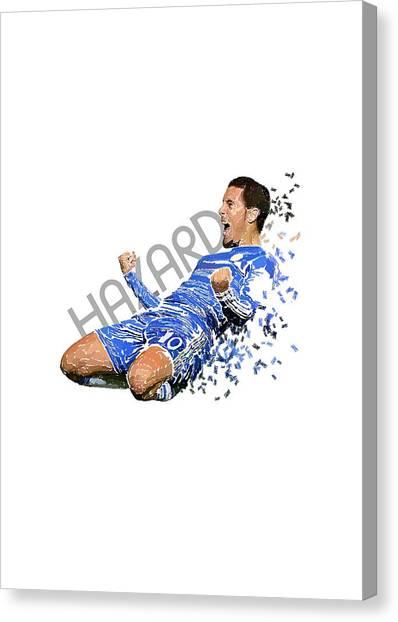 Eden Hazard Canvas Print - Eden Hazard by Armaan Sandhu