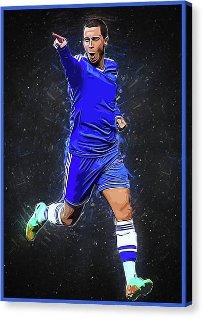 Eden Hazard Canvas Print - Eden Hazard by Clife Studio
