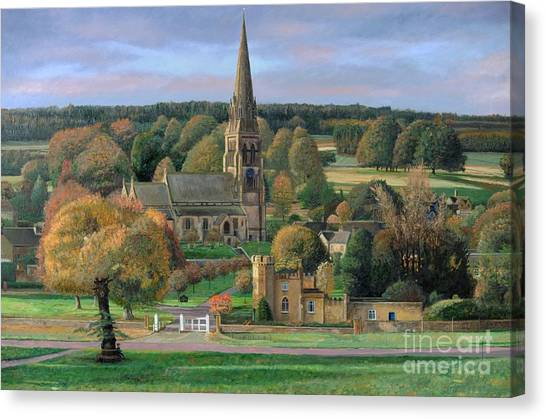 Peak District Canvas Print - Edensor - Chatsworth Park - Derbyshire by Trevor Neal