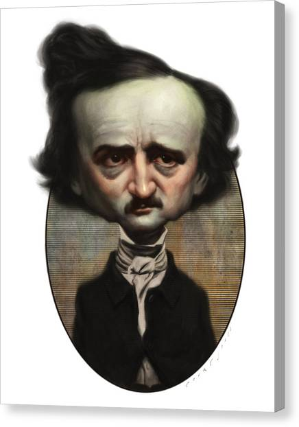 Poe Canvas Print - Edgar Allan Poe by Court Jones