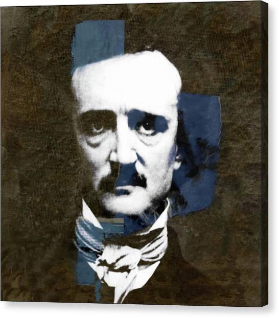 Poe Canvas Print - Edgar Allan Poe  by Paul Lovering