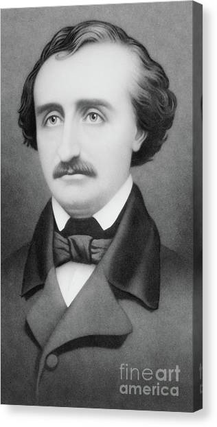Raven Canvas Print - Edgar Allan Poe by William Sartain