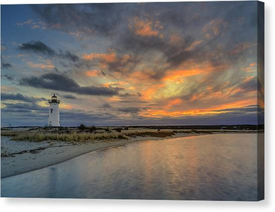 Edgartown Ligh At Dawn Canvas Print