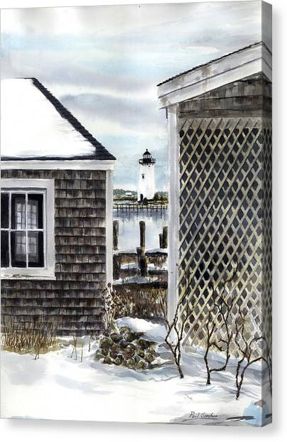 Marthas Vineyard Canvas Print - Edgartown Winter by Paul Gardner