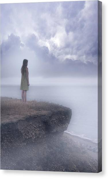 Teenager Canvas Print - Edge Of The Cliff by Joana Kruse