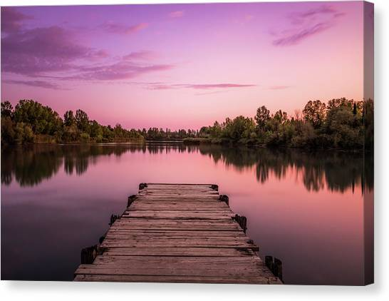 Edge Of The Mirror Canvas Print