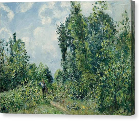 Woodsmen Canvas Print - Edge Of The Woods by Camille Pissarro