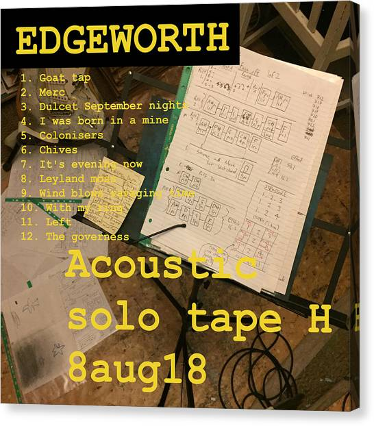 Edgeworth Acoustic Solo Tape H Canvas Print
