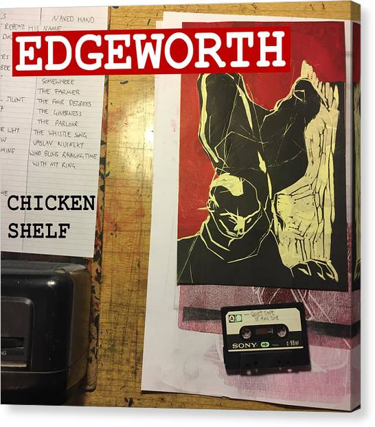 Edgeworth Chicken Shelf Cover Canvas Print