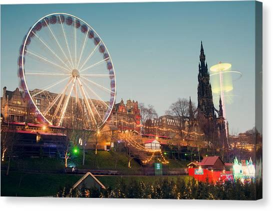 Edinburgh And The Big Wheel Canvas Print