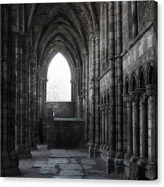 Vault Canvas Print - #edinburgh #holyrood #chapel #church by Kristin Laue