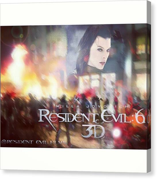 Canvas Print - Edit Made For Resident Evil: The Final by Resident Evil