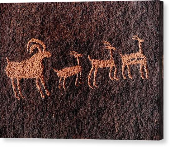 Canvas Print - Edited Sheep Glyph by Russell Wilson