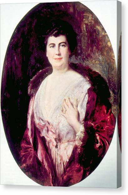 First Lady Canvas Print - Edith Bolling Galt Wilson 1872-1961 by Everett