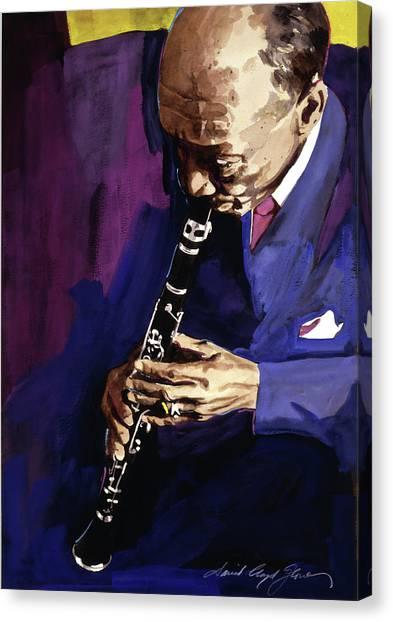 Clarinets Canvas Print - Edmond Hall Jazz Clarinet by David Lloyd Glover