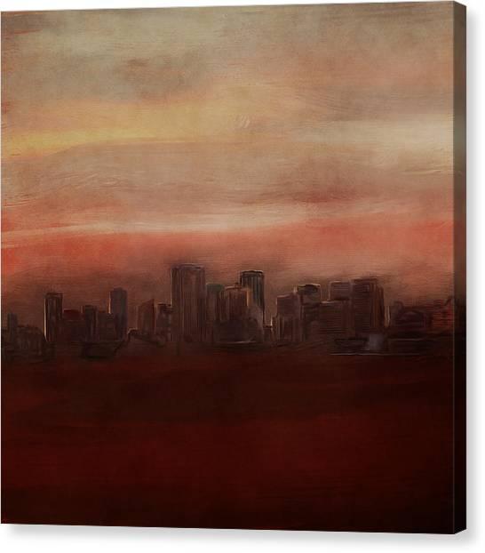 Edmonton At Sunset Canvas Print