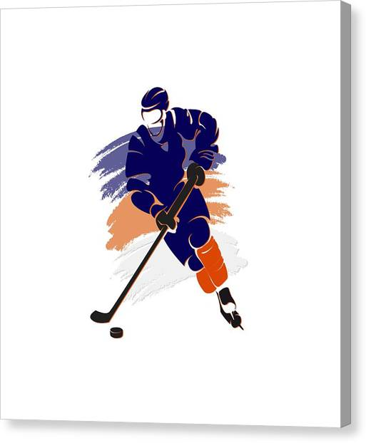 Edmonton Oilers Canvas Print - Edmonton Oilers Player Shirt by Joe Hamilton
