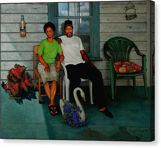 Edna And Sammy Of Johnston County Canvas Print by Doug Strickland