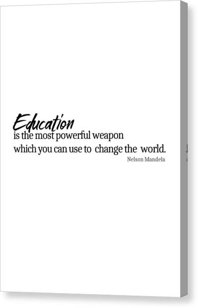 Education #minimalism Canvas Print