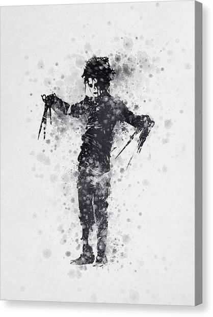 Johnny Depp Canvas Print - Edward Scissorhands 01 by Aged Pixel