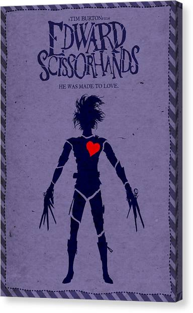 Johnny Depp Canvas Print - Edward Scissorhands Alternative Poster by Christopher Ables